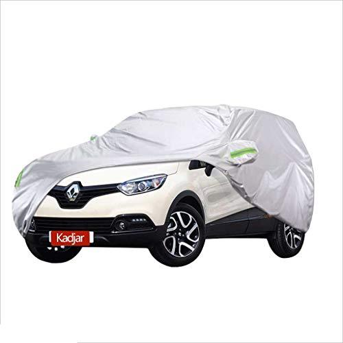 WJQSD Autoschutzhülle Car Cover Heavy Duty Voll wasserdichter, kratzfester, langlebiger, atmungsaktiver Baumwollstoff, gefüttert für Renault Kadjar SUV Camping, Geländewagen (Size : 2017)