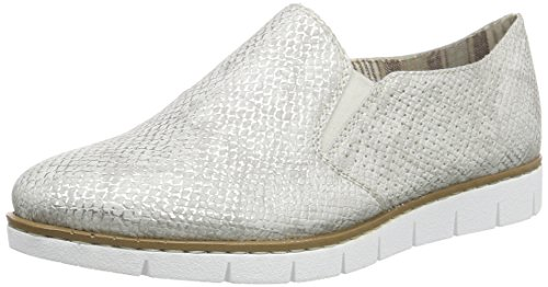 Rieker M1350, Damen Slipper, Weiß (ice/81), 39 EU (6 Damen UK)