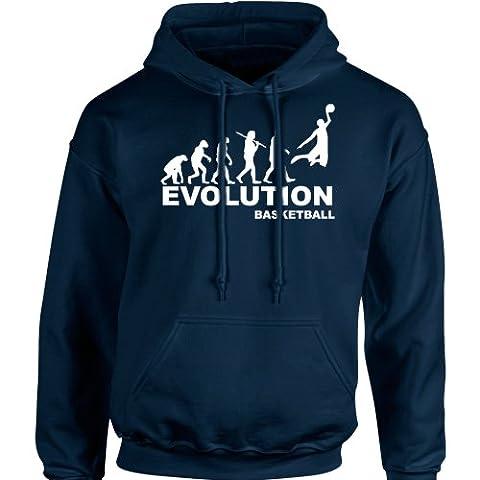 iClobber Basketball Evolution Men's Hoodie Hoody - Small Adult - Navy Blue