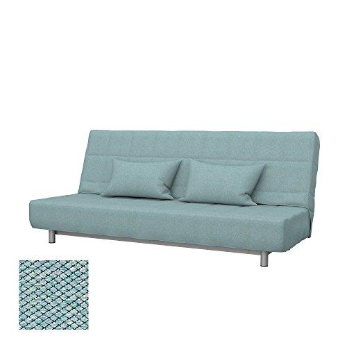 Soferia - Ikea BEDDINGE Fodera per Divano Letto a 3 posti, Nordic Sea Green