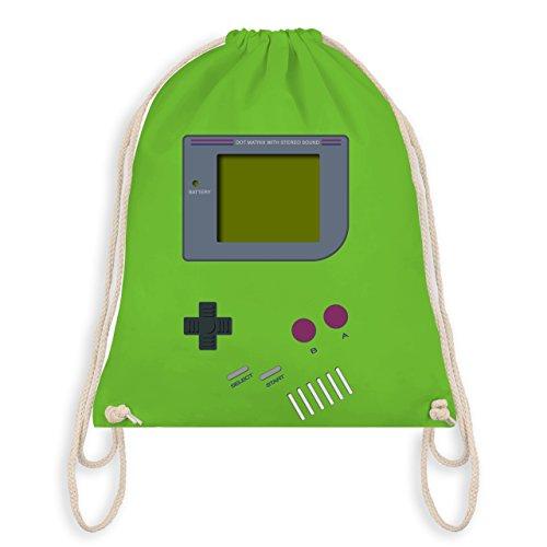 Shirtracer Nerds & Geeks - Gameboy - Unisize - Hellgrün - WM110 - Turnbeutel I Gym Bag (Geek Kostüm Für Mädchen)