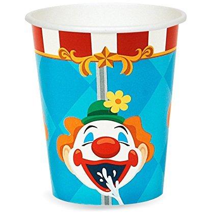 BirthdayExpress Carnival Games Zirkus-Pappbecher für Kinder, 48 Stück