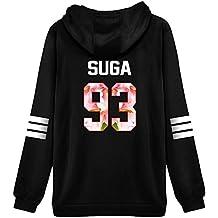 ShallGood Mujer Otoño Moda BTS Bangtan Fans Sudaderas con Capucha Manga Larga Suéter Capa Hoodies Pullover