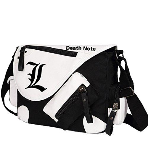 Yoyoshome giapponese anime Cosplay zaino Zaino Crossbody messenger bag borsa a tracolla nero Fairy Tail 1 Death Note 1