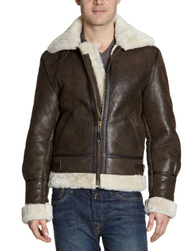Schott NYC - Giacca, uomo, Marrone (Braun (Brown)), XL