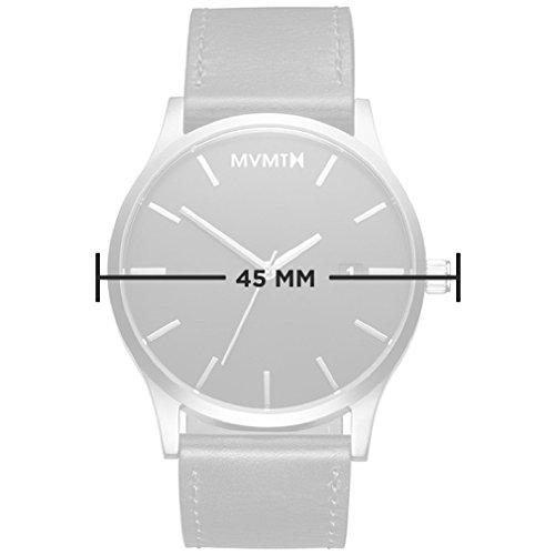 MVMT-Watches-Classic-Herren-Uhr-GunmetalSandstone-Leder-Armband-MM01GML