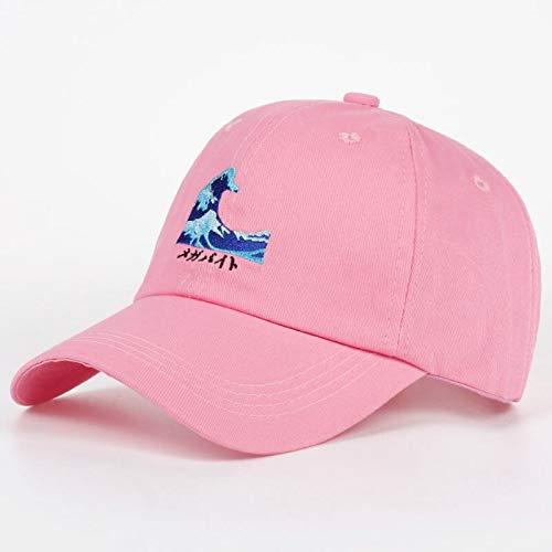 QQYZ Atmungsaktive Wellen Snapback Papa Caps Strapback Baseball Cap Bboy Hip-hop Hüte Für Männer Frauen Fitted Hut Schwarz Rosa Weiß rosa - Bboy-baseball-cap