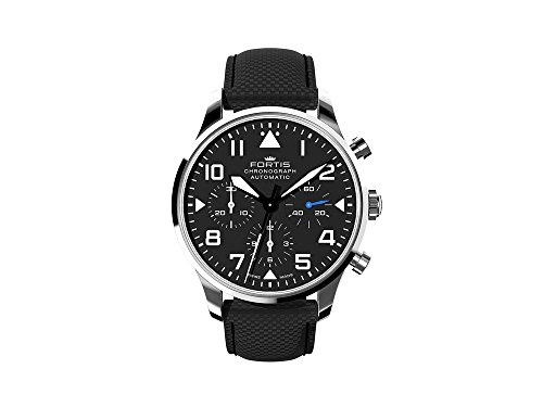 Fortis Pilot Classic Chronograph Automatic Watch, DD2020, 41mm, Leather Strap