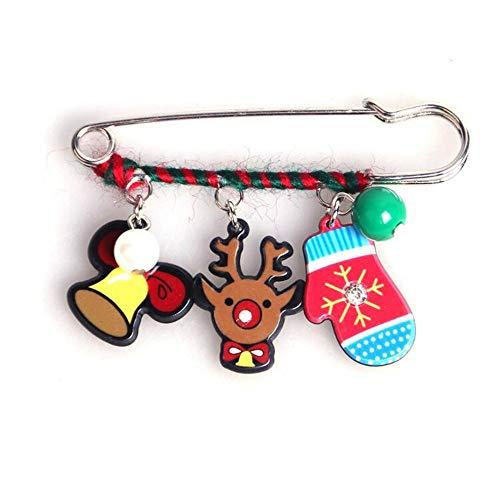 youjiu Accessori Spilla di Sicurezza Spilla A Forma di Albero di Natale con Stivali Babbo Natale