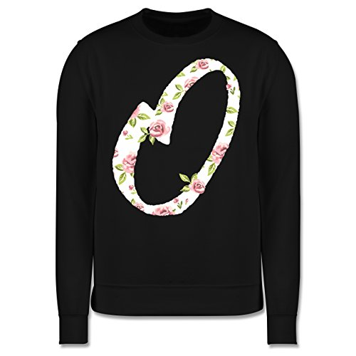 Anfangsbuchstaben - O Rosen - Herren Premium Pullover Schwarz