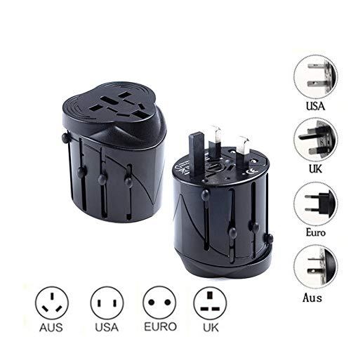 Travel Adapter Weltweit All in One Universal Travel Adapter Wand Wechselstrom Stecker Adapter Wand Ladegerät USA EU UK AUS Ports Handy Laptop Schwarz Homedekor - Wechselstrom-wand-ladegerät-adapter