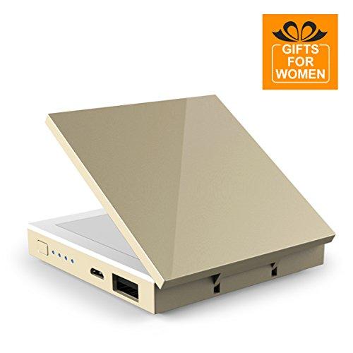 OrimeChargerPB118 Power Bank 2800mAh mit LED Schminkspiegel, Kosmetikspiegel mit 1-facher und...
