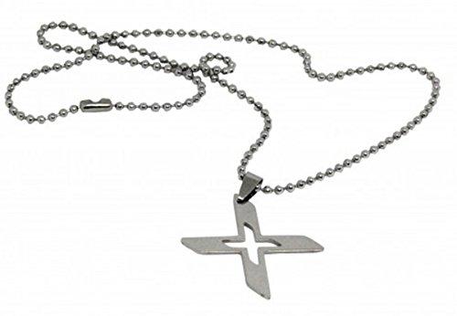 (Halskette Kette Halsanhänger Halsschmuck Edelstahl X-Men X man men waffe necklace Silber Neuheit Design Schmuck)