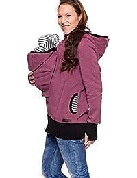 Femmes Kangourou Veste Porte Bébé Maternité Sweat-Shirt Automne Hiver  Épaissie Multi-Fonctionnel Hoodies b88214081f4