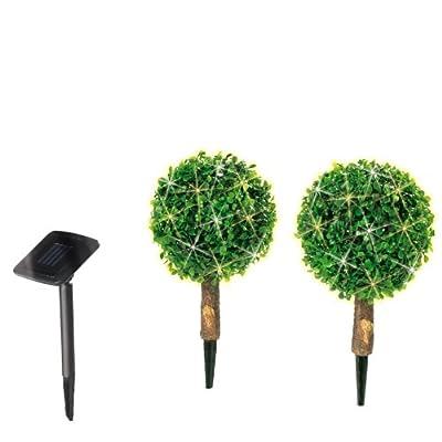 TV - Unser Original Solar Buchsbaumkugeln mit LEDs 2-er Set mit Erdspießen 01318 von in-trading Handelsgesellschaft mbH - Lampenhans.de
