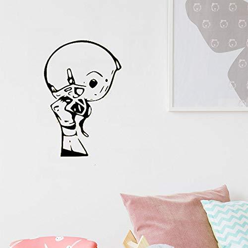 yaoxingfu Adesivo murale Adesivo da Parete per Casco da Football per Ragazzi Camera da Letto Campione di Sport Vinile Rimovibile Arte Murale Decorazioni per la casa Design Carta Colore 42x66cm