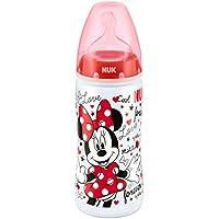NUK Mickey y Minnie First Choice botella 300ml con tetina de silicona Tamaño 2 (6-18 meses), modelos surtidos