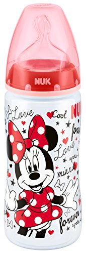 NUK Disney Mickey First Choice+ Babyflasche aus Polypropylen, mit Anti-Colic-Trinksauger Silikon, ab 6-18 Monate, 300 ml