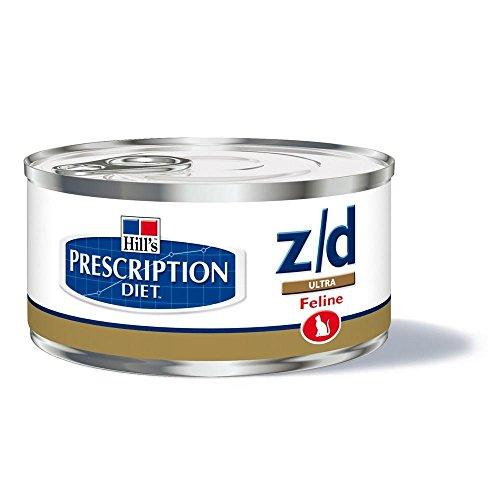 Hill\' S Verschreibung Diet Feline z/d Verwaltung der Ultra Allergien & Gesundheit der Haut Nahrung für Katzen Dosen 24x 156g