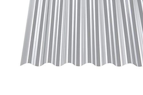 Acryl Wellplatten Profilplatten Sinus 76/18 klar ohne Struktur 1,5 mm (5000 x 1045 x 1,5 mm)