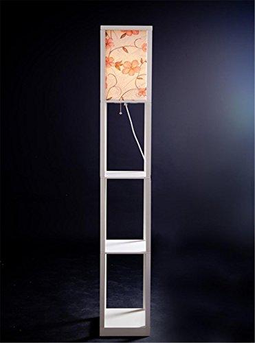Stehleuchte Stoff Lampenschirme Stehlampe mit Regalen Stehlampen für das Wohnzimmer