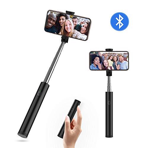 """Yoozon Bluetooth Selfiestick mit integrierter Fernauslöser aus Edelstahl,All in EIN Mini Selfie Stick kabellos Selfie Stange Stab tragbar Monopod für alle 3.5-6.5\"""" iPhone Android Smartphones"""