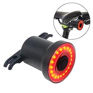 Luz de Cola Para Bicicleta Inteligente - Ultra Brillante - Sensor LED Recargable Resistente al Agua - Lámpara de Advertencia de Seguridad en Bicicleta - Caja fuerte del Freno de la Luz Trasera