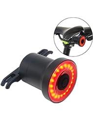 Fanale Posteriore Bike - Ultra Luminoso - Smart Sensore LED Ricaricabile Resistente all'acqua - Spia Di Sicurezza in Bicicletta - Fanale Posteriore Sicuro - Per Bici da Strada e Mountain Bike