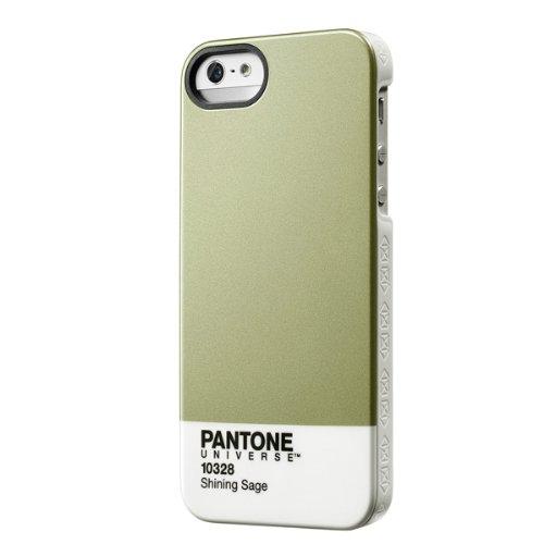 Case Scenario PA-IPH5-M-SS Pantone Universe Schutzhülle für Apple iPhone 5/5S silber/grün