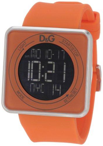 Dolce & Gabbana DW0738 - Reloj de pulsera Mujer, Silicona, color Naranja