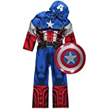 Official Marvel licensed Captain America fancy dress costume 3-4 years with Shield & Mask, Made for George Collection