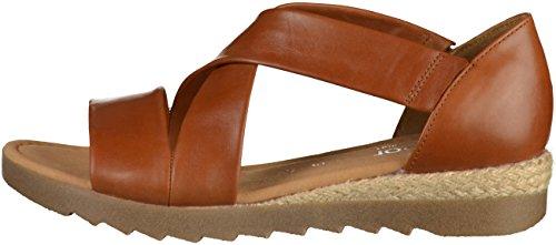 Gabor Shoes Comfort Sport, Sandales Bride Cheville Femme Marron (Peanutjute/ambra)
