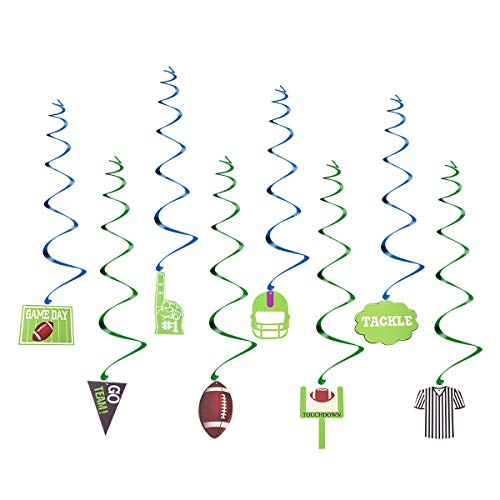 BESTOYARD Girlande Super Bowl Deckenhänger Spiral Wirbel American Football Fan Artikel Super Bowl Party Deko 30 Stück