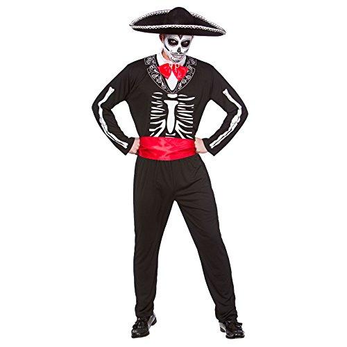 Erwachsene Party Dead Kostüm Für Mans - Mariachi Day Of The Dead - Adult Costume Men : XLarge