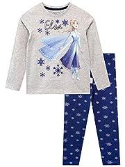 Idea Regalo - Disney Maglietta e Leggings per Ragazze Il Regno di Ghiaccio Frozen Multicolore 2-3 Anni