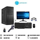 Gandiva Desktop Computer (Core 2 Duo CPU / 4GB DDR2 Desktop RAM/No DVD Drive/USB Keyboard and Mouse / 15.6 Inch Monitor/WiFi Facility) with Windows 7 Trail Version Pre Installed (500GB HDD)