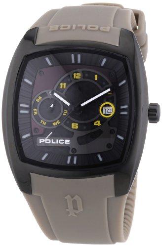 Police TORQUE P13547JSB-02A - Reloj de cuarzo para hombre, correa de plástico color gris