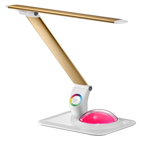 LED Neuheit Gesicht Lichtquelle LED Augen Lampe Aluminiumlegierung Falten Büro Bunte Atmosphäre Augenschutz Tischlampe GAOXP ( Color : Gold )