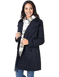 KRISP® Damen Klassischer Trench Coat Mantel Jacke