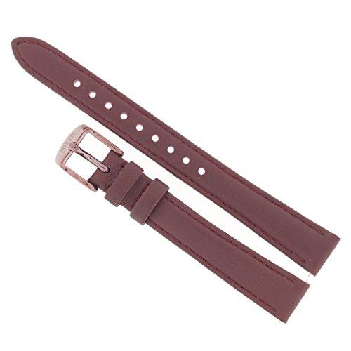 Fossil Uhrenarmband 14mm Leder Lila Uhrband ES-4099 / LB-ES4099