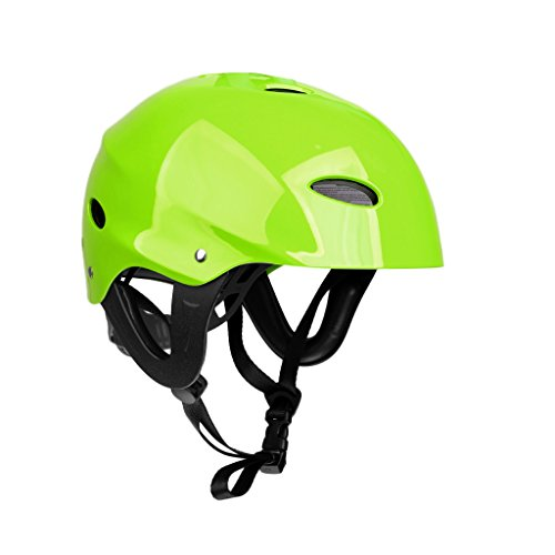 MagiDeal 54-60cm/ 58-62cm Lightweight Adjustable Safety Helmet with Air Vents for Water Sports Canoeing Kayaking Wakeboarding CE Approved - Green, M