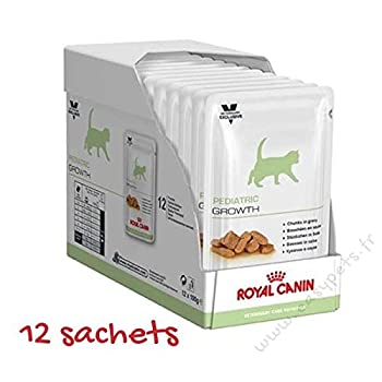 Royal Canin Veterinary Care Nutrition Cat Pediatric Growth Nourriture pour Chaton - 12 sachets 100g