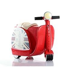 Sac de chariot pour enfants jouet rangement jouet valise peut être chevauchée pour enfants âgés de 3 à 6 protection de l'environnement en plastique ABS