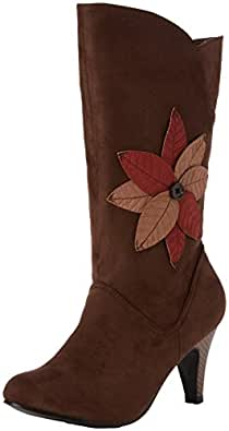 Joe Browns Damen Into The Woods Midi Boots Cowboy Stiefel, Braun (Brown A), 39 EU