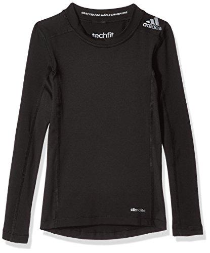 Ls Tee T-shirt (adidas Jungen T-shirt YB TF LS TEE, Schwarz, 140, 4055344279946)