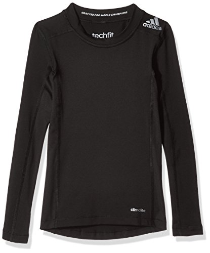 adidas Jungen T-shirt YB TF LS TEE, Schwarz, 152, 4055344279922 (Adidas Langarm-shirt)