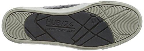 Hub Camden-W Damen Derby Schnürhalbschuhe Schwarz (Black/Lite Grey 011)