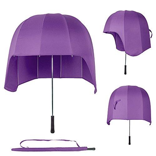 ToxTech Automatico Ombrello, Creatività manico lungo cappello casco fungo ombrello