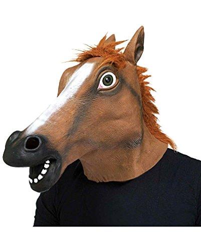 ferde Maske (Braune Pferde Maske)