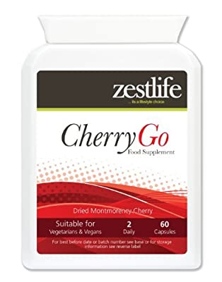 CHERRY GO Montmorency Cherry 550mg 60 Capsules. by Zestlife